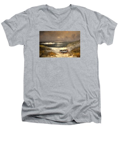 After The Storm Passed Men's V-Neck T-Shirt by Sandi OReilly