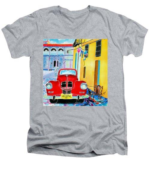 Afternoon In Havana Men's V-Neck T-Shirt