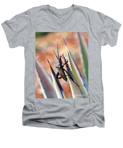 Agave Bug  Men's V-Neck T-Shirt by Tom Janca