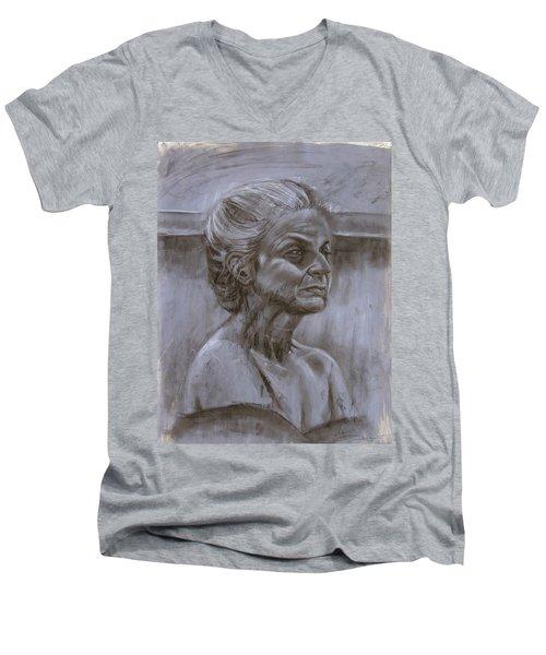 Aged Woman Men's V-Neck T-Shirt
