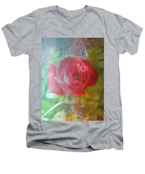Ageless - Rose - Manipulated Images Men's V-Neck T-Shirt