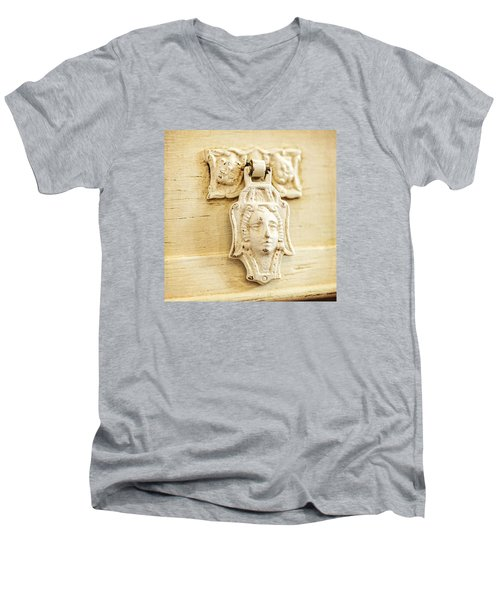 Aging Gracefully Men's V-Neck T-Shirt by Caitlyn  Grasso