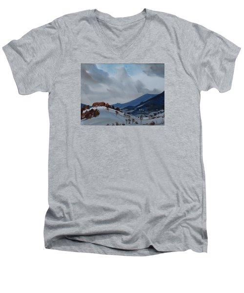 Airyhill Men's V-Neck T-Shirt by Len Stomski
