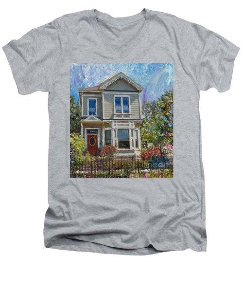 Alameda 1892 Queen Anne Men's V-Neck T-Shirt