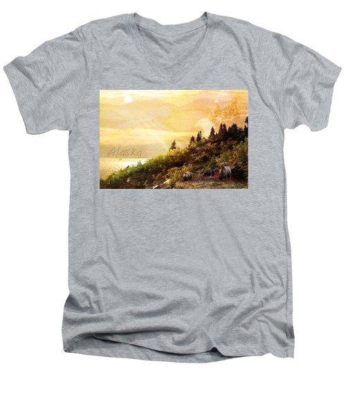 Alaska Montage Men's V-Neck T-Shirt