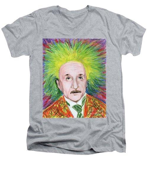 Albert Einstein Men's V-Neck T-Shirt by Yoshiko Mishina