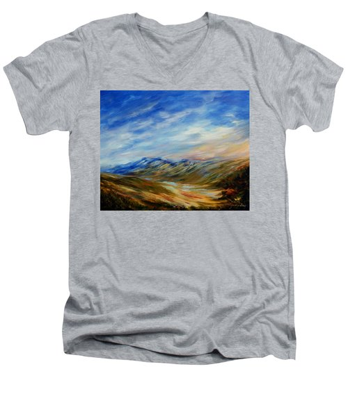 Alberta Moment Men's V-Neck T-Shirt