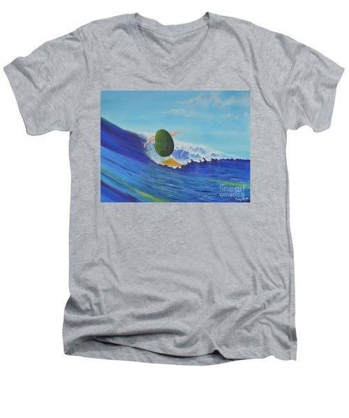 Alex The Surfing Avocado Men's V-Neck T-Shirt