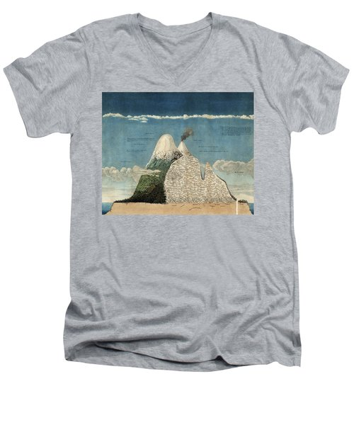 Alexander Von Humboldts Chimborazo Map Men's V-Neck T-Shirt