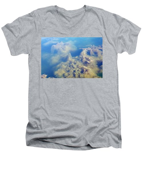 Algae Stalagmites Men's V-Neck T-Shirt