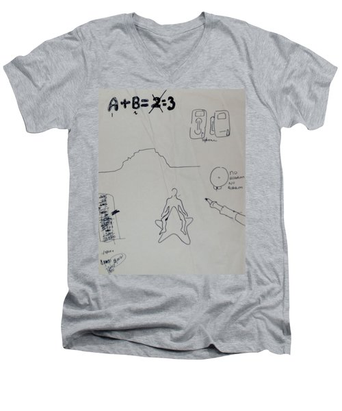 Algebra Men's V-Neck T-Shirt by Erika Chamberlin