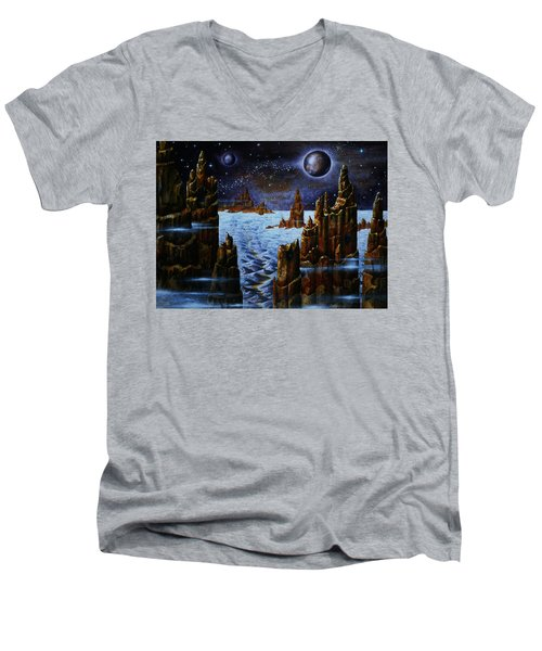 Ice And Snow  Planet  Men's V-Neck T-Shirt