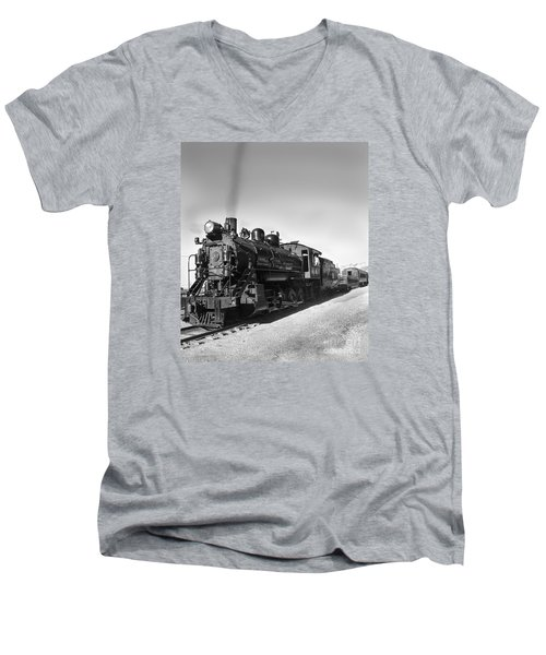 All Aboard Men's V-Neck T-Shirt by Robert Bales