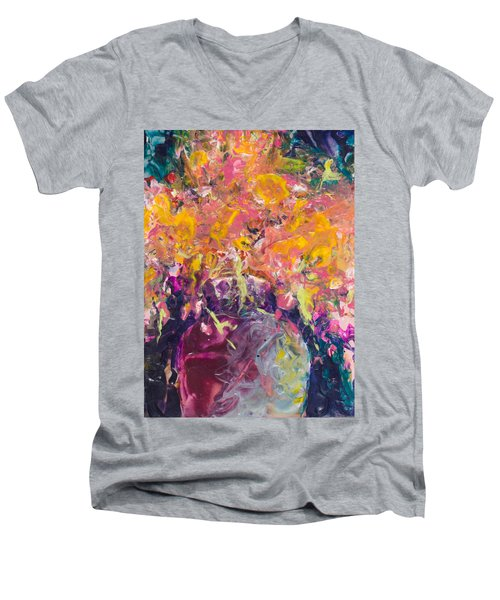 All Aglow Men's V-Neck T-Shirt