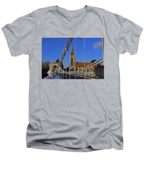 All Saints Church Men's V-Neck T-Shirt by Tony Murtagh