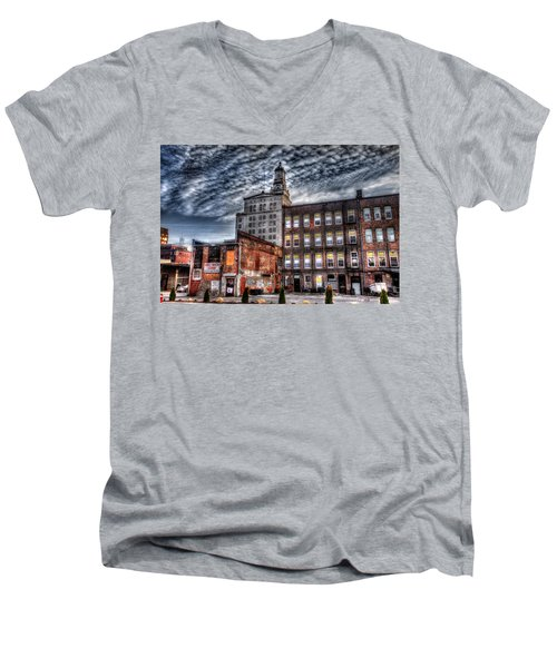 Men's V-Neck T-Shirt featuring the photograph Alley View by Ray Congrove