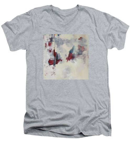 Men's V-Neck T-Shirt featuring the painting Alliteration C2012 by Paul Ashby