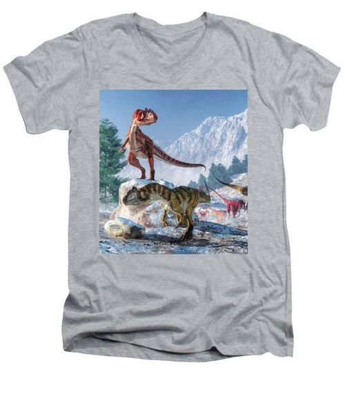 Allosaurus Pack Men's V-Neck T-Shirt