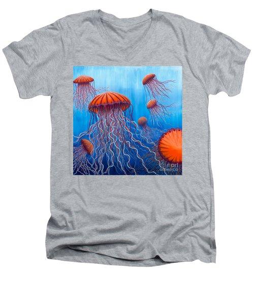 Ally's Orange Jellies Men's V-Neck T-Shirt