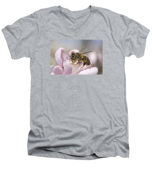 Men's V-Neck T-Shirt featuring the photograph Almost Spring 01 by Kevin Chippindall