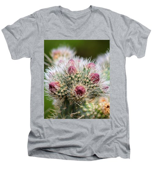Men's V-Neck T-Shirt featuring the photograph Almost by Tammy Espino