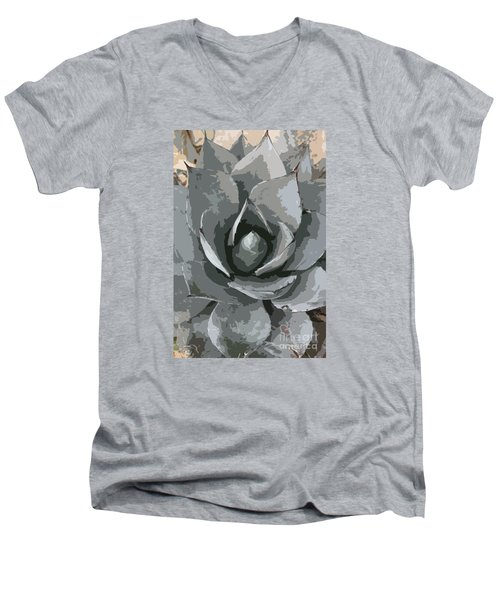 Aloe Vera Abstract Men's V-Neck T-Shirt by Christiane Schulze Art And Photography