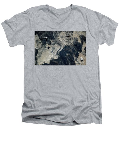 Men's V-Neck T-Shirt featuring the photograph Alone Again by Christiane Hellner-OBrien