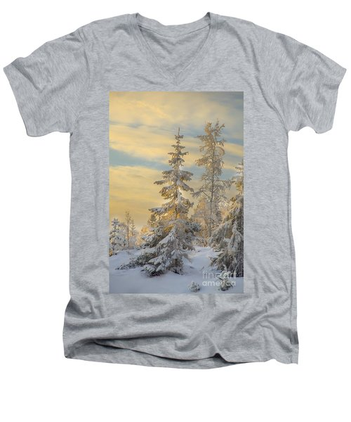 Men's V-Neck T-Shirt featuring the photograph Alone But Strong by Rose-Maries Pictures