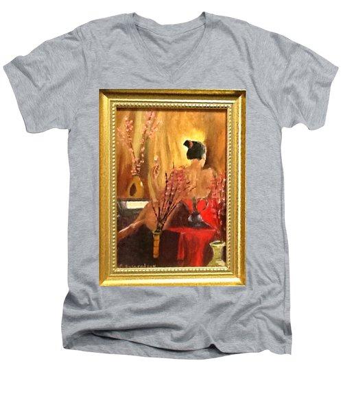 Alone Men's V-Neck T-Shirt by Catherine Swerediuk