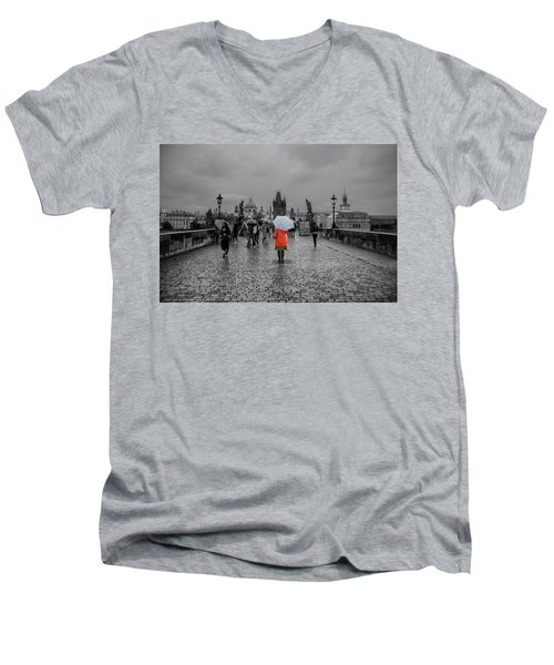 Alone In The Crowd Men's V-Neck T-Shirt