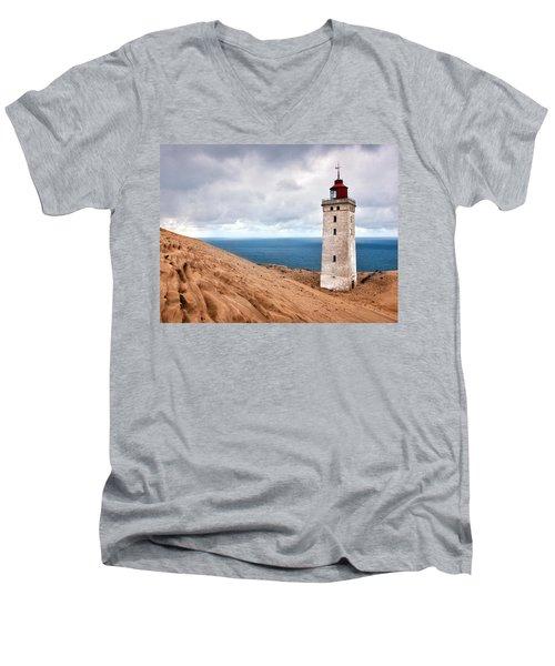 Lighthouse On The Sand Hils Men's V-Neck T-Shirt