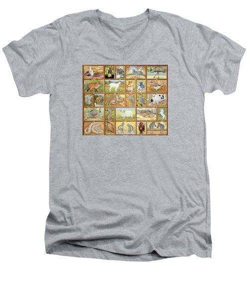 Alphabetical Animals Men's V-Neck T-Shirt
