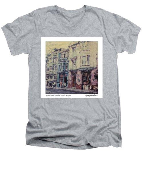 Altered Polaroid - Kybele Hotel 1 Men's V-Neck T-Shirt by Wally Hampton