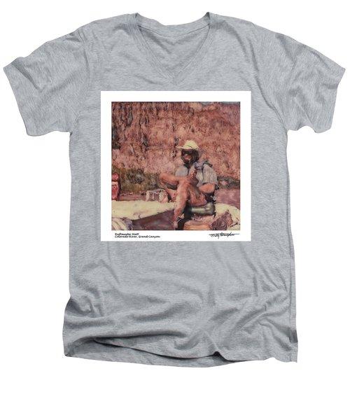 Altered Polaroid - Raft Master Matt Men's V-Neck T-Shirt by Wally Hampton
