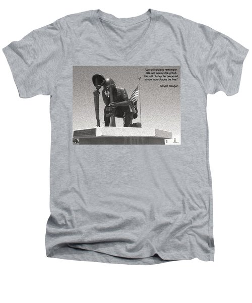 Men's V-Neck T-Shirt featuring the photograph Always Remember by Glenn McCarthy Art and Photography