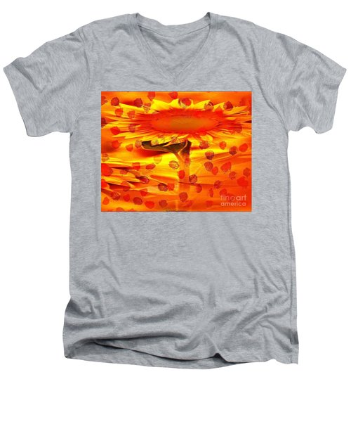 Always Turn Your Head Towards The Sun Men's V-Neck T-Shirt by PainterArtist FIN