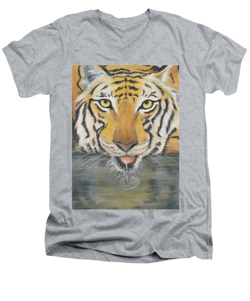 Always Watching  Men's V-Neck T-Shirt by Patricia Olson