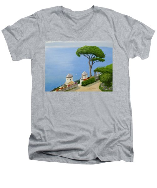 Amalfi Coast From Ravello Men's V-Neck T-Shirt by Mike Robles