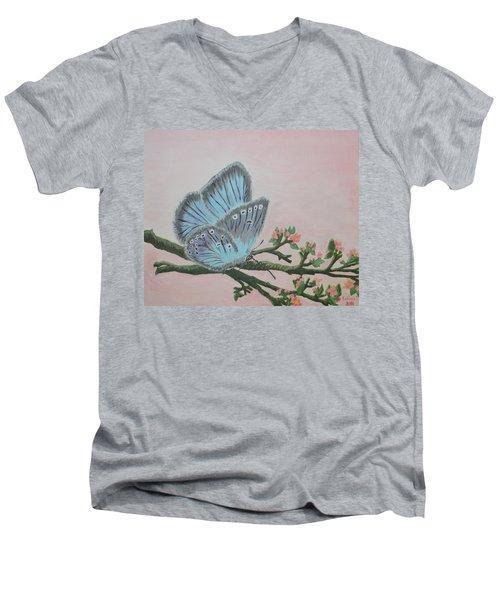 Amandas Blue Dream Men's V-Neck T-Shirt by Felicia Tica