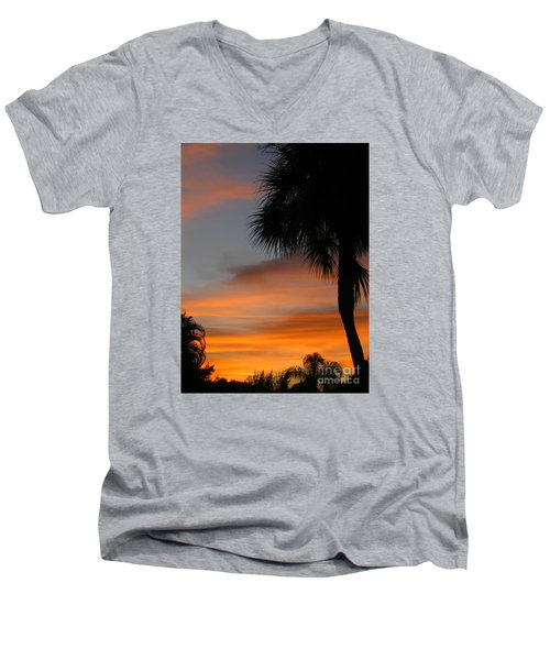 Amazing Sunrise In Florida Men's V-Neck T-Shirt