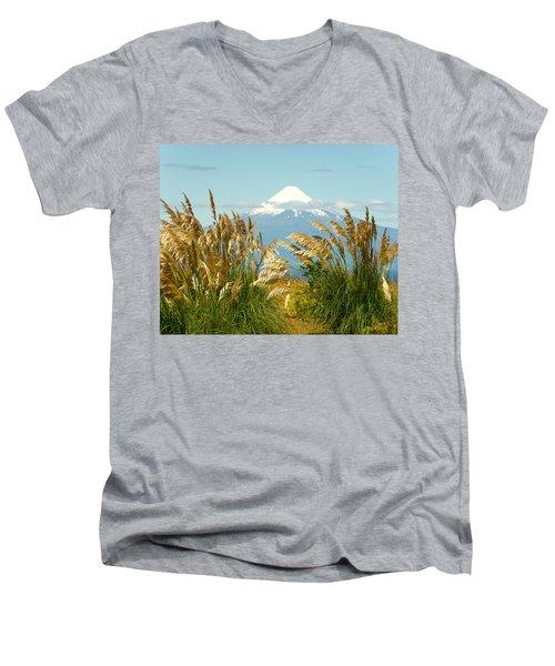 Amber Waves Of Osorno Men's V-Neck T-Shirt