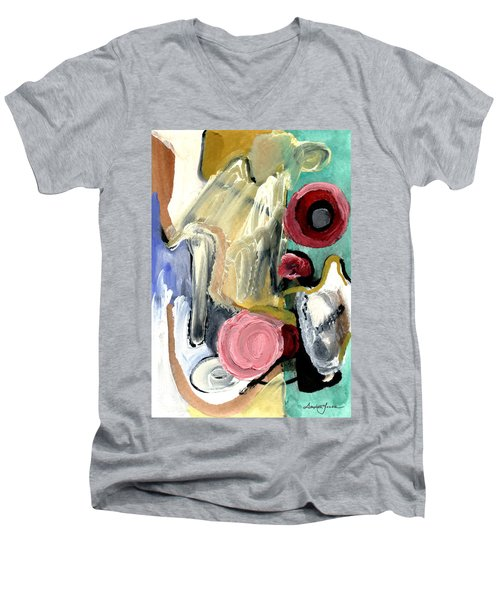 Men's V-Neck T-Shirt featuring the painting American Beauty by Stephen Lucas