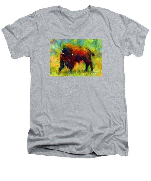 American Buffalo Men's V-Neck T-Shirt