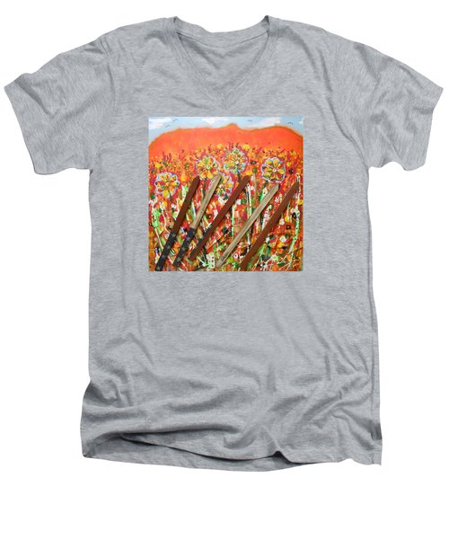 American Mornin' Flower Garden Men's V-Neck T-Shirt