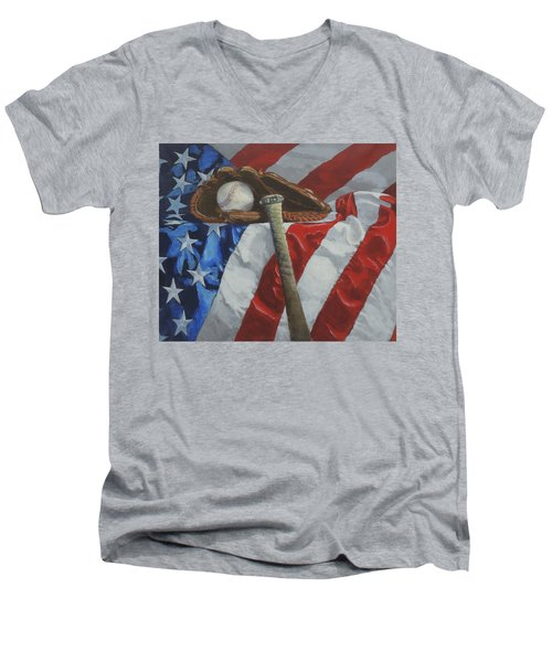 America's Game Men's V-Neck T-Shirt