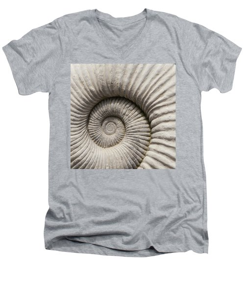 Ammonites Fossil Shell Men's V-Neck T-Shirt