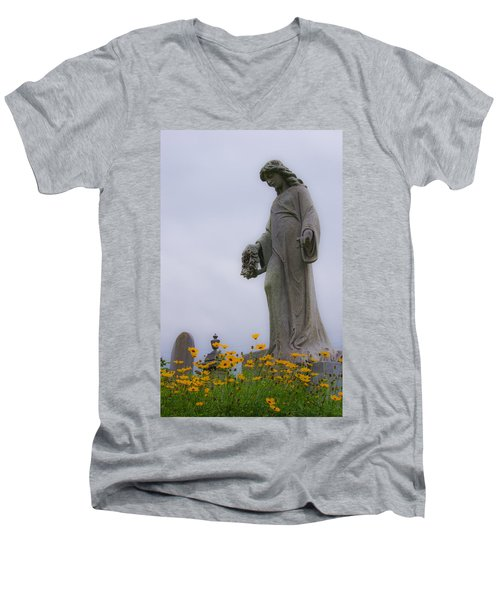 Among The Flowers Men's V-Neck T-Shirt