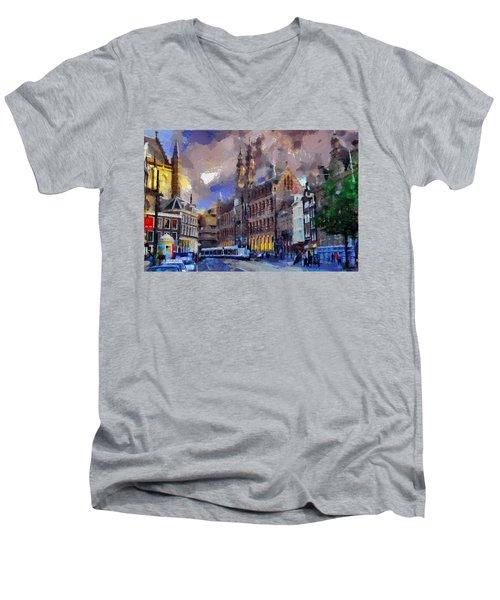 Amsterdam Daily Life Men's V-Neck T-Shirt