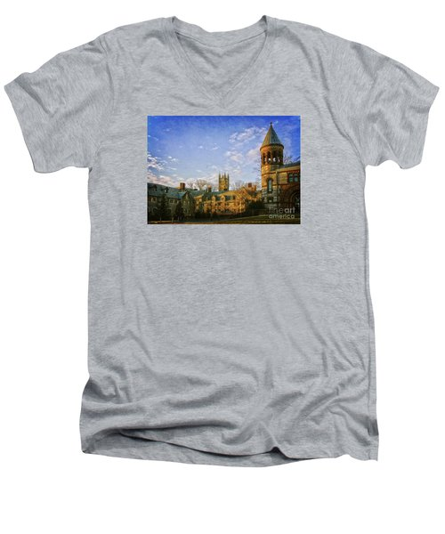 An Afternoon At Princeton Men's V-Neck T-Shirt