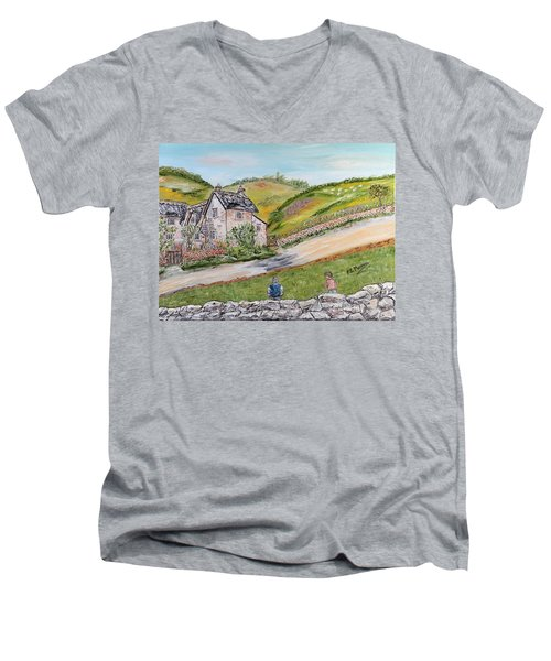 An Afternoon In June  Men's V-Neck T-Shirt by Loredana Messina